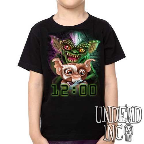 Gremlins Gizmo and Spike - Kids Unisex Girls and Boys T shirt Clothing - Undead Inc Kids T-shirts,
