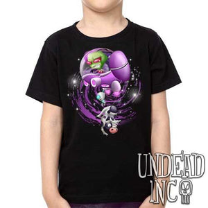 "Invader Zim Gir ""Cows are my friends"" - Kids Unisex Girls and Boys T shirt Clothing - Undead Inc Kids T-shirts,"