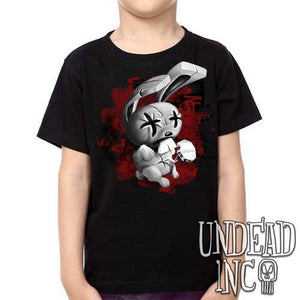 JTHM Nailbunny Johnny the Homicidal Maniac black grey - Kids Unisex Girls and Boys T shirt Clothing