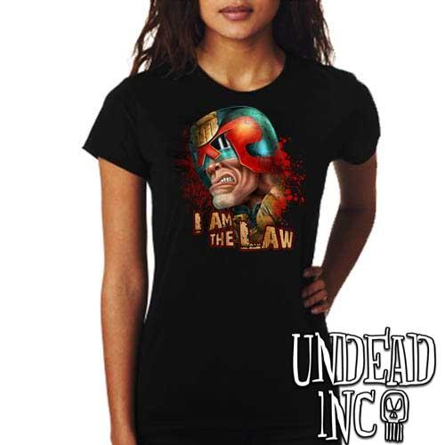 Judge Dredd I AM THE LAW - Ladies T Shirt