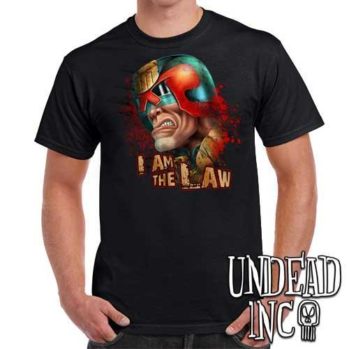 Judge Dredd I AM THE LAW - Mens T Shirt