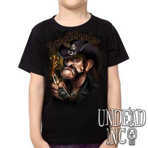 Lemmy Kilmister Motorhead Ace of Spades -  Kids Unisex Girls and Boys T shirt Clothing