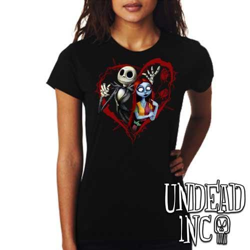 Nightmare Before Christmas Jack and Sally - Ladies T Shirt