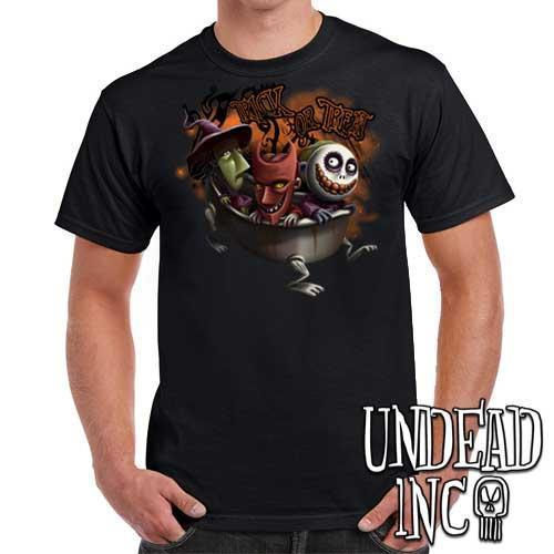 Nightmare Before Christmas Lock Shock Barrel Trick or Treat - Mens T Shirt
