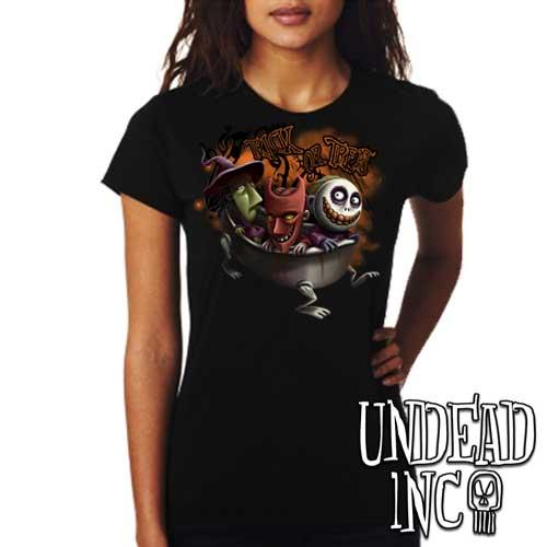 Nightmare Before Christmas Trick or Treat - Ladies T Shirt