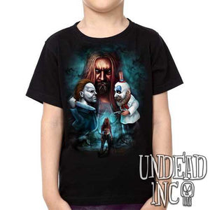 Rob Zombie 31 Captain Spaulding Michael Myers - Kids Unisex Girls and Boys T shirt Clothing