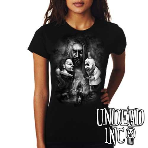 Rob Zombie- Ladies T Shirt BLACK GREY