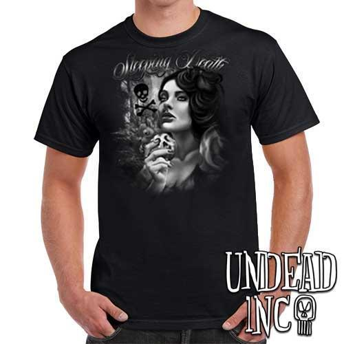 "Snow White Poison Apple ""Sleeping Death"" - Mens T Shirt Black Grey Mens T-shirts Undead Inc"
