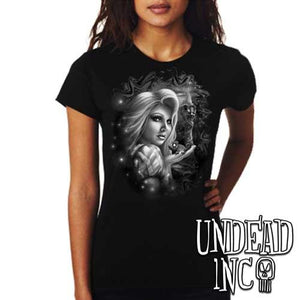 Tangled - Ladies T Shirt Black Grey