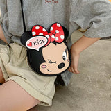 Minnie Mouse Cartoon Kiss Pu Leather Shoulder Bag