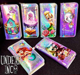 Beauty & The Beast Rose Tale As Old As Time Undead Inc Hologram Long Line Wallet Purse - Undead Inc Wallet,