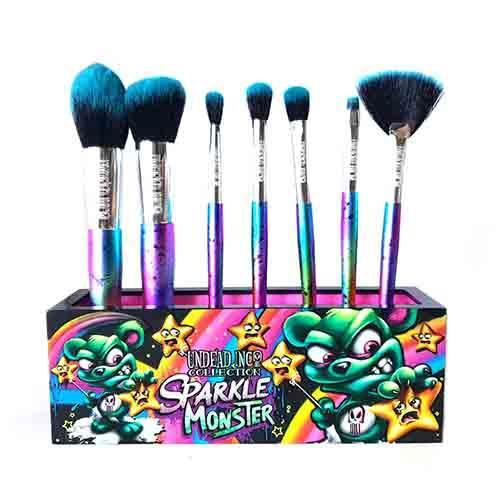 Undead Inc Collection Scare Bear Sparkle Monster - Makeup Brush & Holder Set