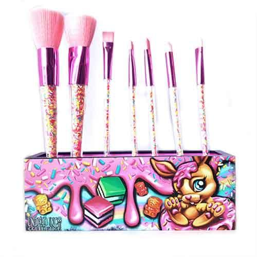 Undead Inc Collection Donut Bunny Sprinkles  - Makeup Brush & Holder Set