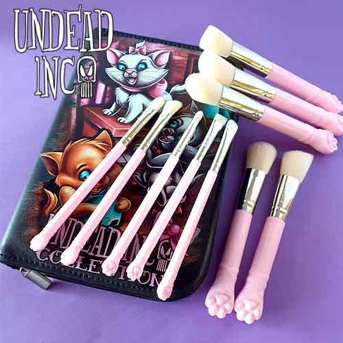 Undead Inc Collection Aristocats - Makeup Brush & Case Set Makeup Brushes Undead Inc