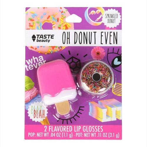 Pink Ice Cream & Sprinkled Donut Lip Gloss Set