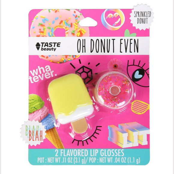 Yellow Ice Cream & Sprinkled Donut Lip Gloss Set