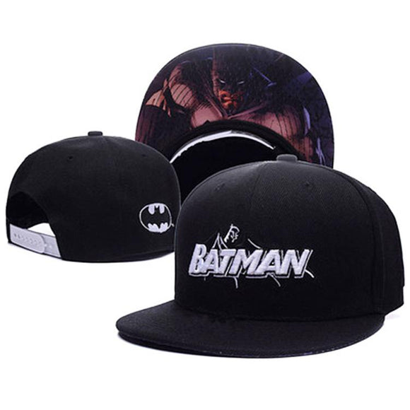 Batman With Inner Brim Print Cap Hat