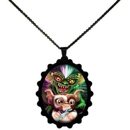 Gremlins Gizmo & Spike STAINLESS STEEL Necklace - Undead Inc ,