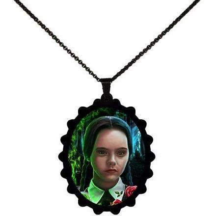 Addams Family Wednesday Portrait STAINLESS STEEL Necklace - Undead Inc ,