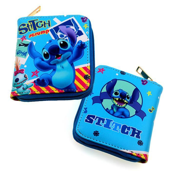 Disney Stitch & Scrump Short Style PU Leather Wallet - Undead Inc Wallet,
