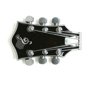 Black Guitar Belt Buckle - Undead Inc Belt Buckle,