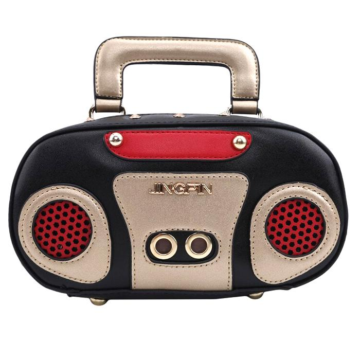 Retro Radio Bag With Removable Strap Shoulder Handbags Retro