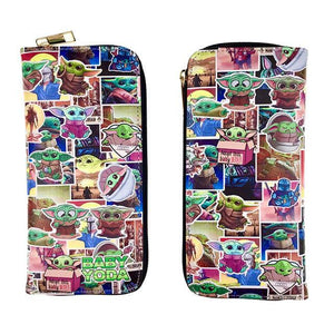 Baby Yoda Collage Long Line Wallet Purse