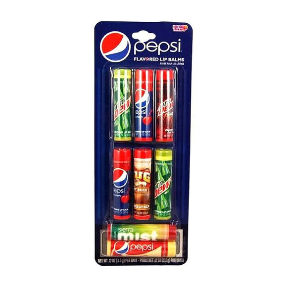 Pepsi & Mountain Dew Flavoured Lip Balm Set Of 8