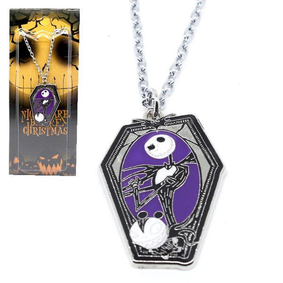 Nightmare Before Christmas Jack Coffin Necklace
