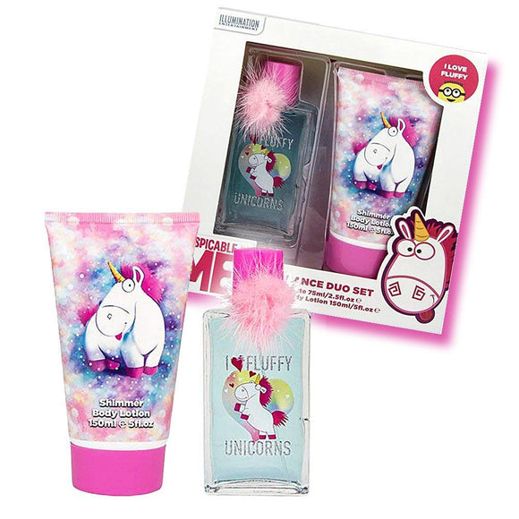 Despicable Me I Love Fluffy Unicorns Perfume & Shimmer Body Lotion Set - Undead Inc Fragrance,
