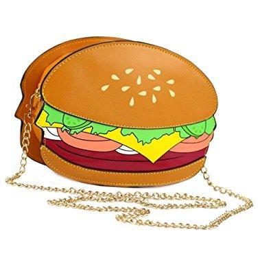 Hamburger Bag / Clutch With Removable Chain - Undead Inc Shoulder Handbags,
