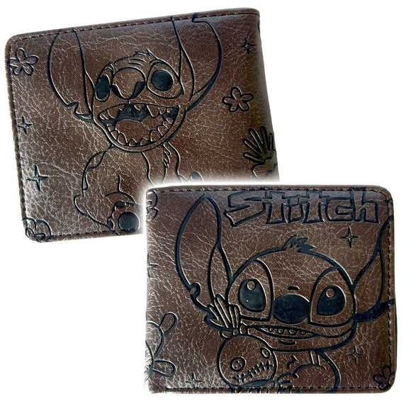 Lilo & Stitch PU Leather Engraved Bifold Wallet