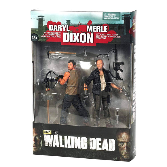 The Walking Dead DARYL & MERLE DIXON Collectable Figure 2 PK