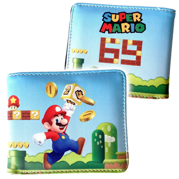 Super Mario Pu Leather Bifold Wallet
