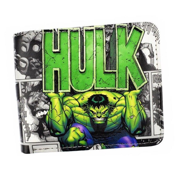 The Hulk Comic Book Style Pu Leather Bifold Wallet