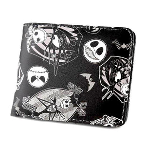 Nightmare Before Chritmas Pattern Pu Leather Wallet