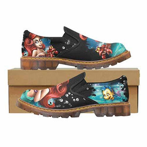 Ariel Under The Sea Women's Martin Loafer Shoes