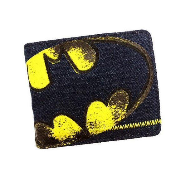 Batman Distressed Denim Style Bifold Wallet - Undead Inc Wallet,