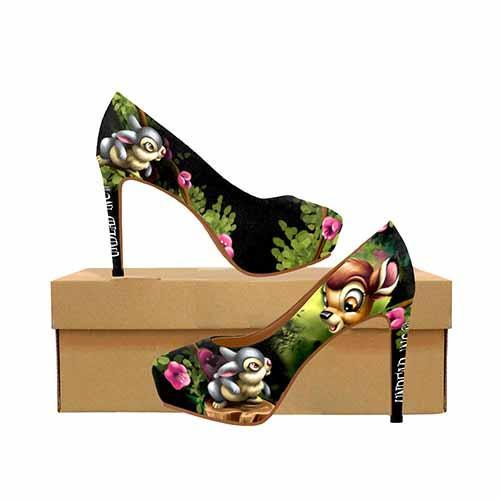 Bambi & Thumper Platform High Heels - Undead Inc High Heels,
