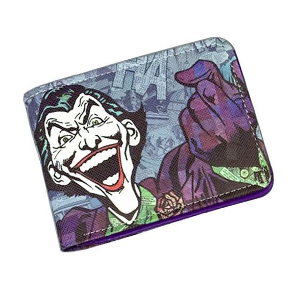 Comic Book Style Joker PU Leather Bifold Wallet - Undead Inc Wallet,