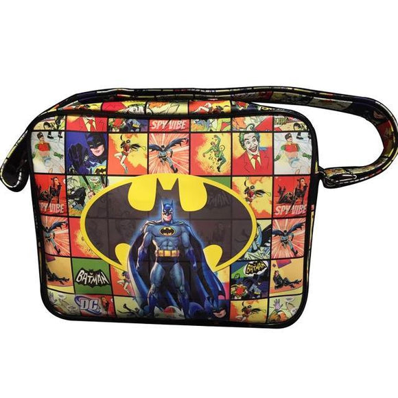 Batman Comic Book Style 1966 Mash Up Pu Leather Messenger Bag - Undead Inc Messenger Bags,