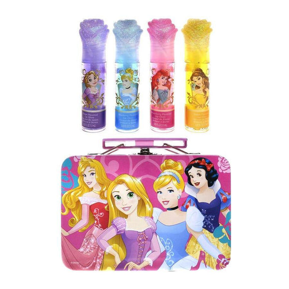 Disney Princess Roses Lip Gloss Tin Cosmetic Set - Undead Inc Lip Gloss,