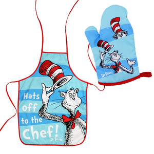 Cat In The Hat Kids Apron & Oven Mitt Set