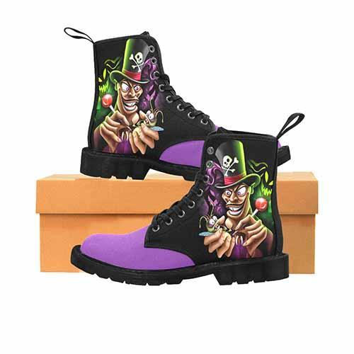 Villains Dr Facilier Voodoo Ray Black MENS Martin Boots - Purple Variant