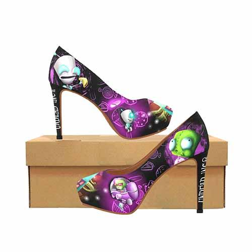 Invader Zim Gir Platform High Heels - Undead Inc High Heels,