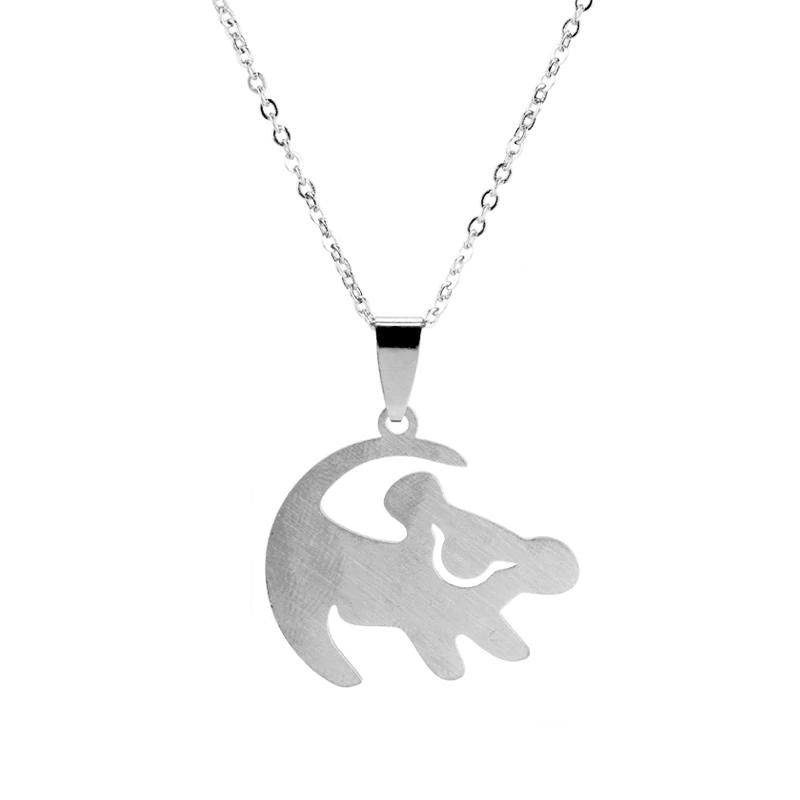 Lion King Simba Painting Silver Necklace