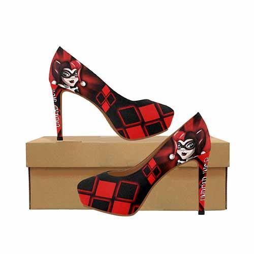 Harley Quinn Platform High Heels - Undead Inc High Heels,