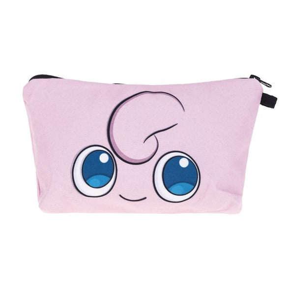 Jigglypuff Pokemon Makeup Cosmetics Bag