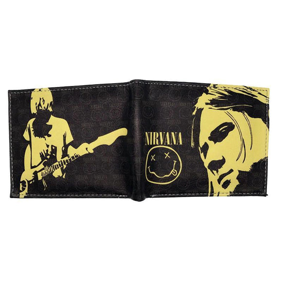 Nirvana Kurt Cobain PU Leather Bifold Wallet