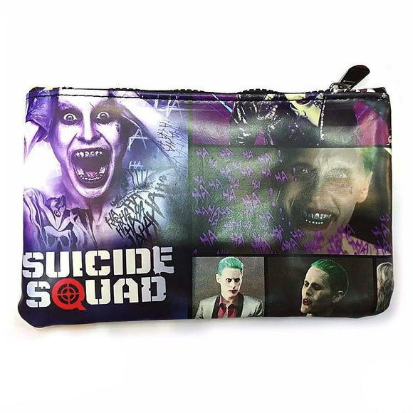 Suicide Squad Joker Pu Leather Cosmetics Bag
